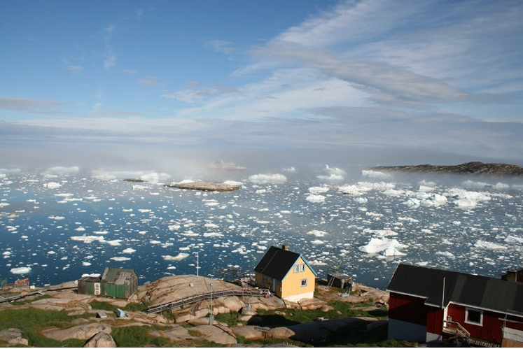 A village on the coast of Greenland, where the native Inuit population traditionally ate diets high in omega-3 fats. (Photo- Malik Milfeldt)
