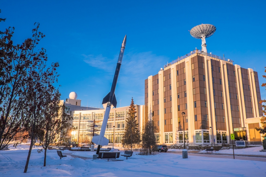 The UAF's Geophysical Institute in Fairbanks. Image-UAF