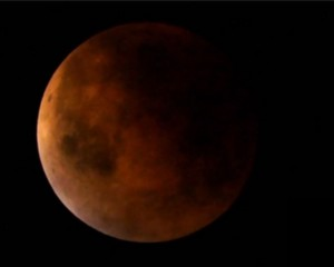 """""""Superbloodmoon"""" photographed by NASA's Griffith Observatory, Sept. 27, 2015."""