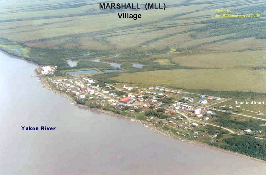 Aerial view of Marshall, Alaska. Image-Jim Buckingham/FAA