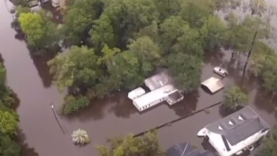 Flooding in South Carolina has hit epic proportions, and more rain is on the way. Image-VOA
