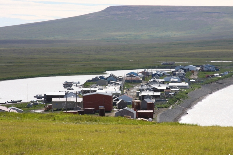 The village of Tununak on Nelson Island. Image-City Data