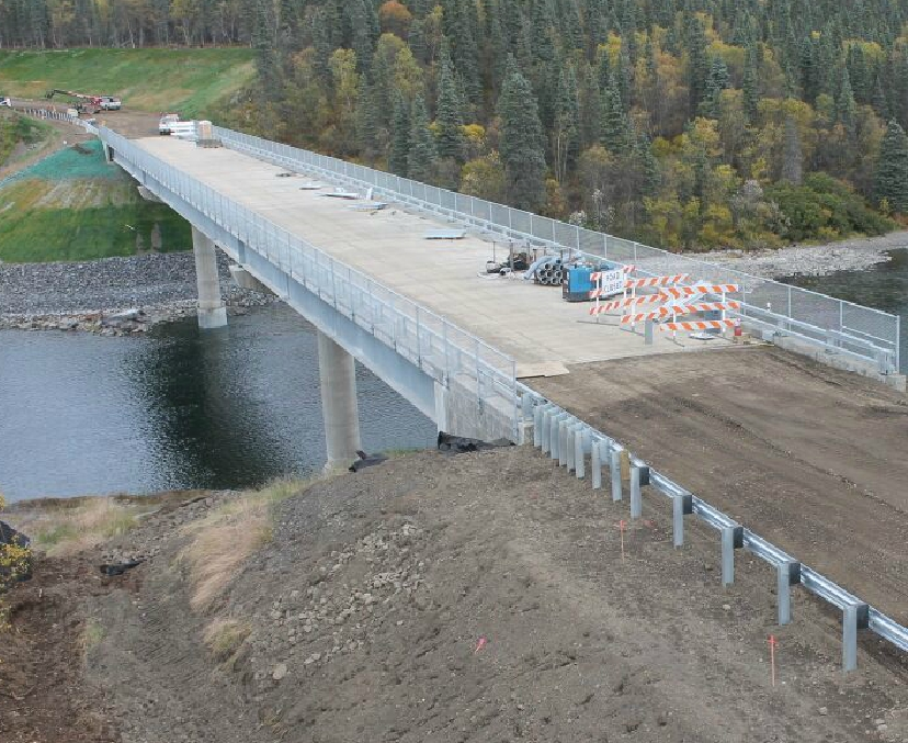 The nearly completed Wood River Bridge on September 25th. Image-DOT&PF