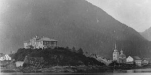 Baranoff Castle on Castle Hill, where the Russian flag was lowered for the last time in 1867. Image-UAA