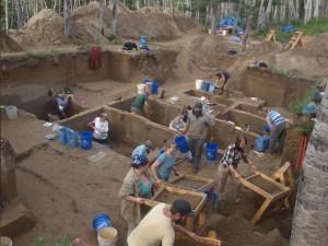 The Upward Sun River archaeological site in Alaska. Photo credit: Ben Potter, University of Alaska Fairbanks.