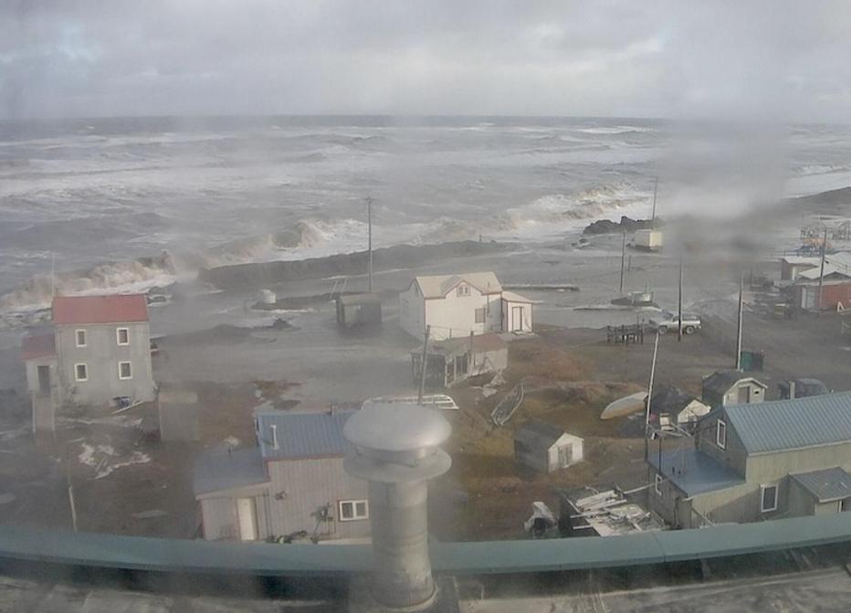 Fall storm in Barrow. Image-Screengrab/Barrow Sea Ice Webcam