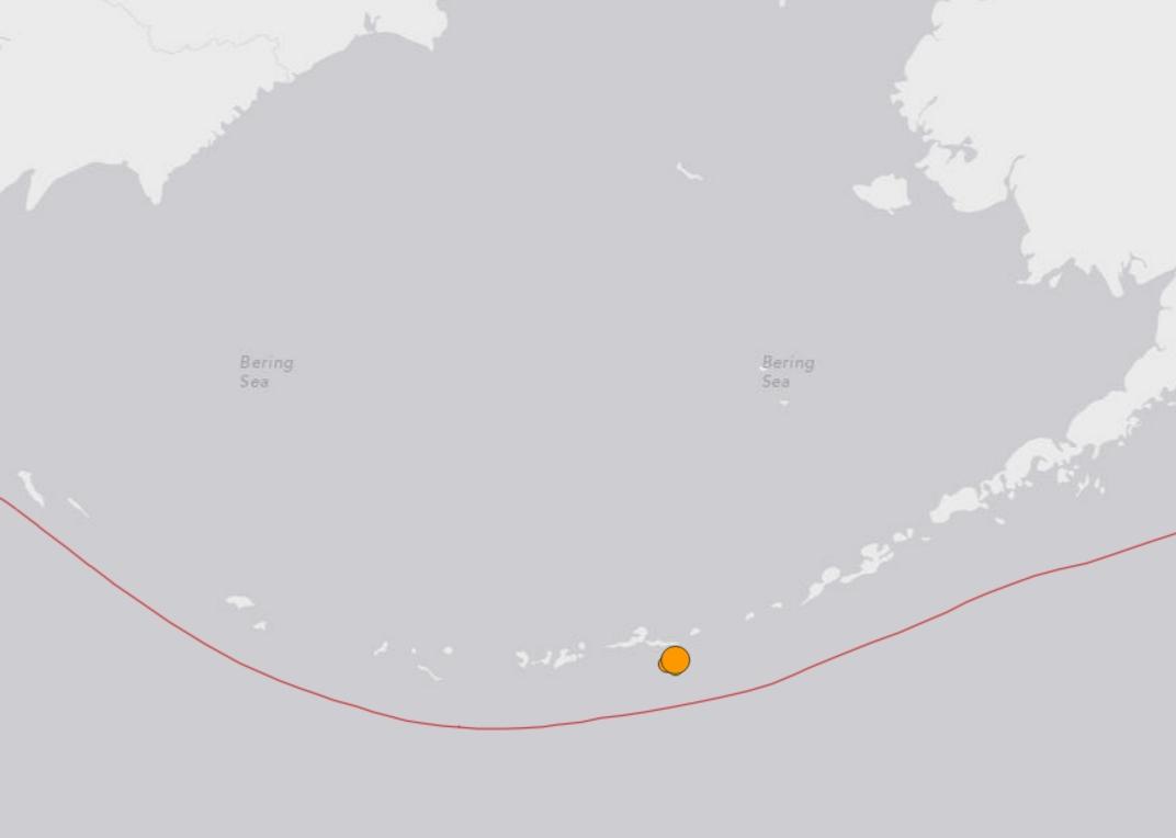 A 6.2 magnitude quake shook awake the Atka area on Monday morning. Image-USGS