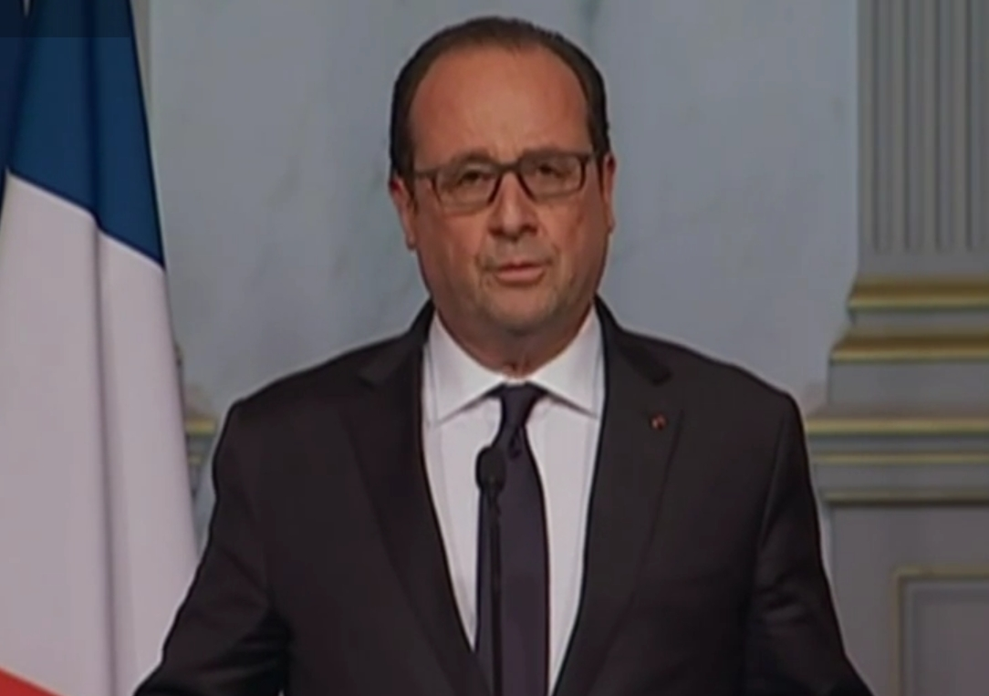 French President Hallande declares state of emergency in France. Image-RT screengrab