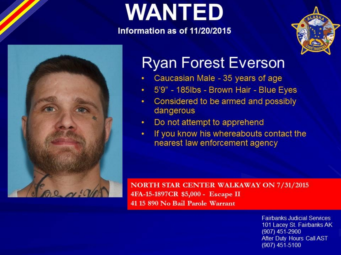 Wanted poster of Ryan Everson courtesy of AST