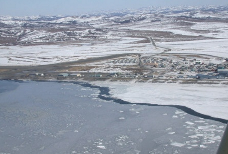 The community of Unalakleet. Image-State of Alaska