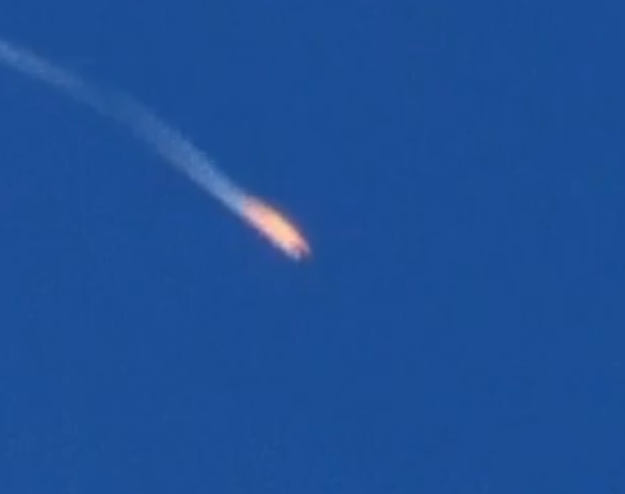 Turkey downed a Russian warplane on Tuesday after that jet crossed into Turkish territory. Image-Screengrab