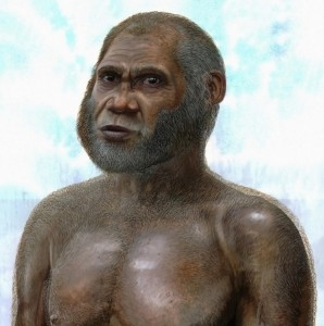 This is an artist's reconstruction of a Red Deer Cave man. CREDIT-Credit: Peter Schouten