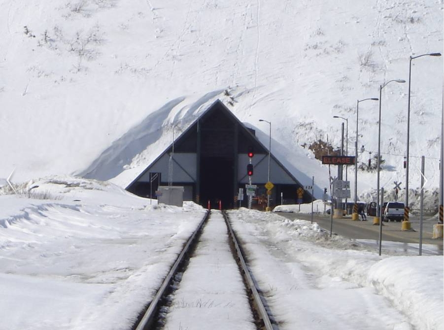 The Anton Anderson Tunnel looking north. Image-Railroad forums