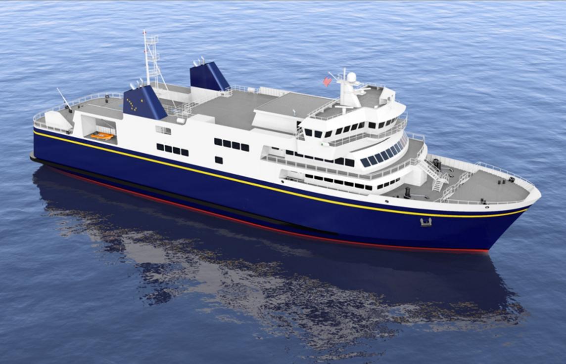 Alaska Class Ferry Conceptual Drawing. Image AMHS