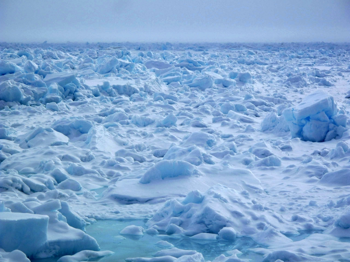 Sea ice floating off the coast north of Barrow. Photo by Ned Rozell.
