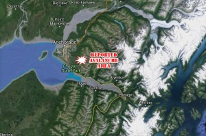 Searchers responded to an avalanche after a mistaken report of a victim was made. Image-Google Maps