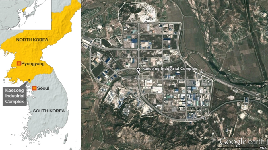 More than 53,000 North Korean workers are employed by about 120 South Korean factories in the park, which opened in 2004 and is one of the few areas of North-South economic cooperation.Image-Google Earth/VOA