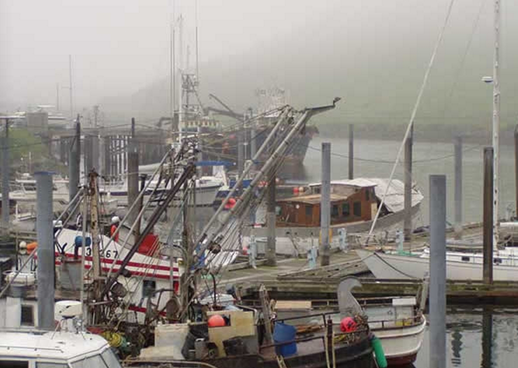 A small boat harbor in Dutch Harbor, Alaska. Image-NOAA Fisheries