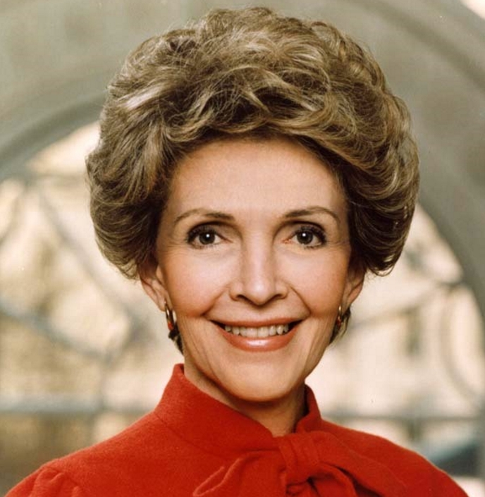 Former First Lady, Nancy Reagan. Image-Public Domain