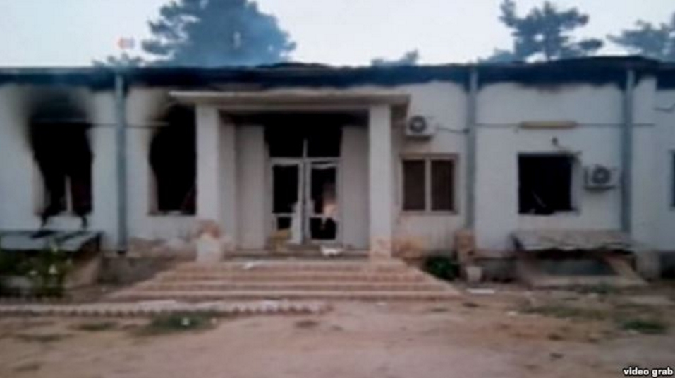 The hospital in Kunduz after a U.S. airstrike killed at least 19 people, including three children, according to officials with the international medical charity Doctors Without Borders, known by its French acronym MSF.