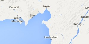 The search is continuing for missing traveler Roger Hannon of Koyuk, who was last seen on the sea ice east of Elim. Image-Google Maps