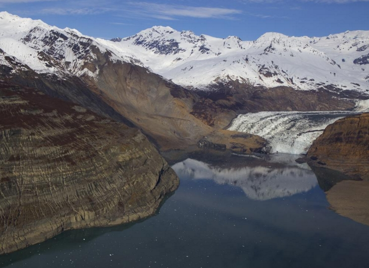The site of an October landslide in Taan Fiord, within Icy Bay. Image-Chris Larsen