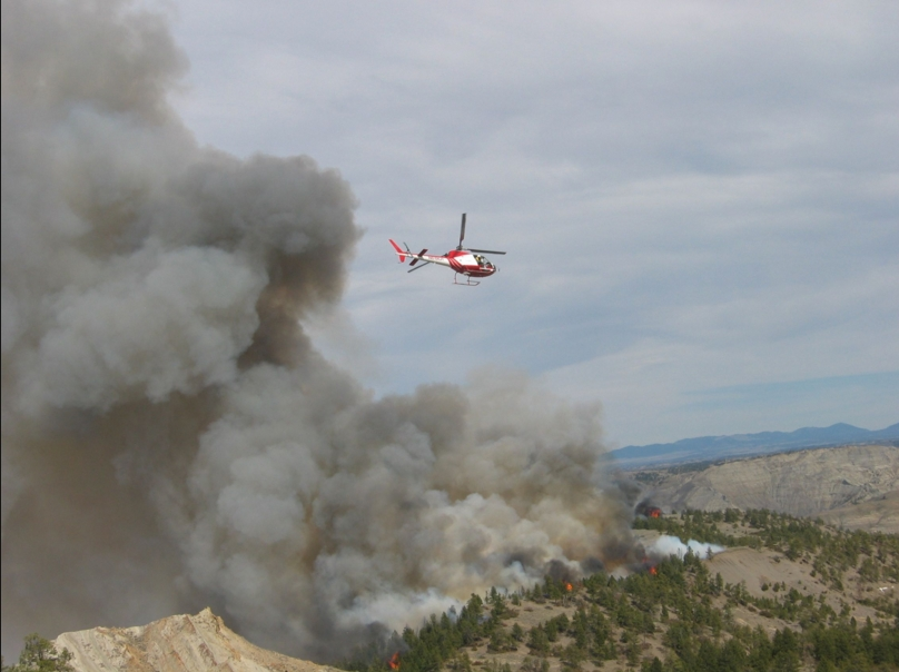 Bureau of Land Management conducting a prescribed burn. Image-BLM