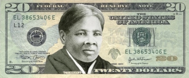 African-American Abolitionist Harriet Tubman will adorn the new $20 bill, replacing Andrew Jackson.