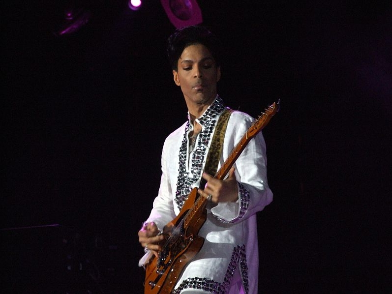 Prince playing at Coachella 2008. Image-Public Domain