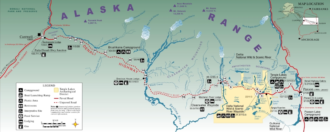 Map of Denali Highway. Image-BLM
