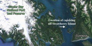 Location of capsizing in Glacier Bay. Image-Google Maps