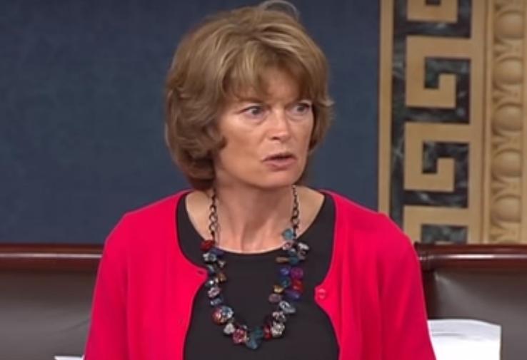 Senator Lisa Murkowski on the Senate floor. Image-Office of Senator Murkowski