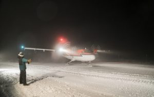 The arrival completes a nine-day, global evacuation operation that NSF coordinated to prioritize the health and safety of station and rescue personnel. Credit: Robert Schwarz, NSF