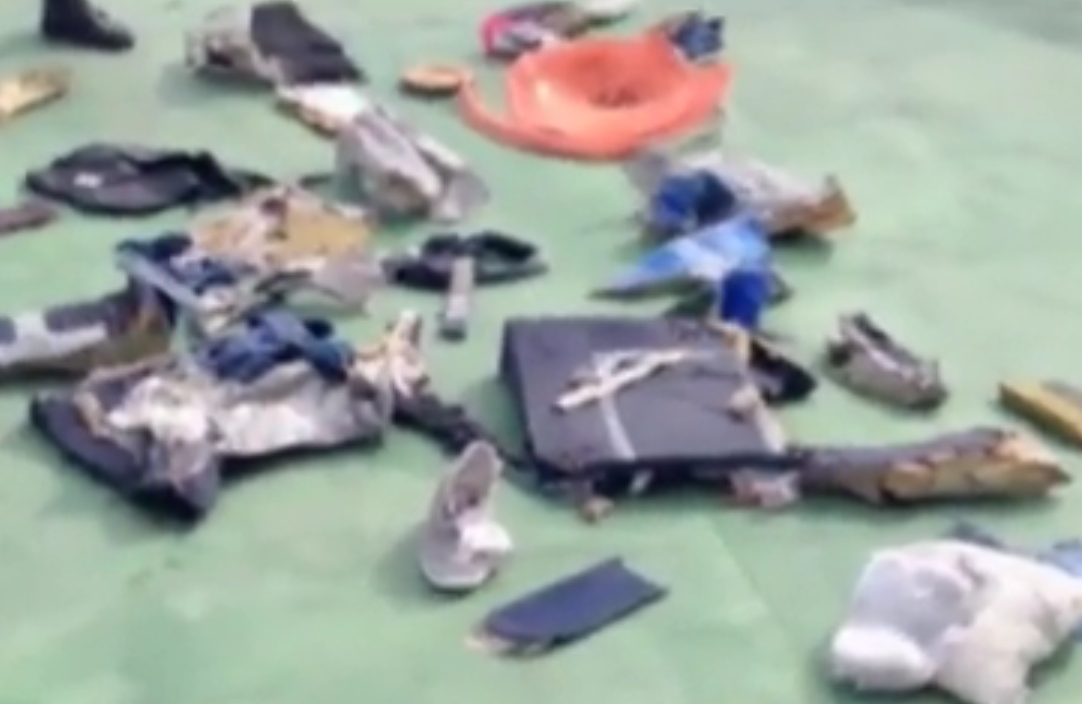 Miscellaneous debris from EgyptAir MS804.