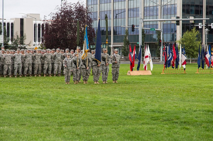 Alaska National Guard marks historic landmark in downtown Anchorage
