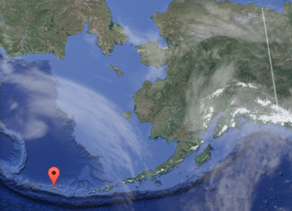 Location of Atka in the western Aleutian Islands. Image-Google Maps