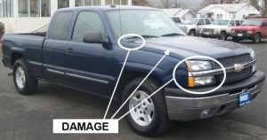 Anchorage police say the vehicle pictured here is similar to the vehicle involved in the fatal Glenn Highway hit-and-run that killed Joshua Goodlataw. Image-APD