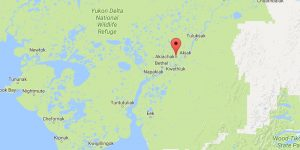 The location of Akiachak on the Kuskokwim River in southwest Alaska. Image-Google Maps