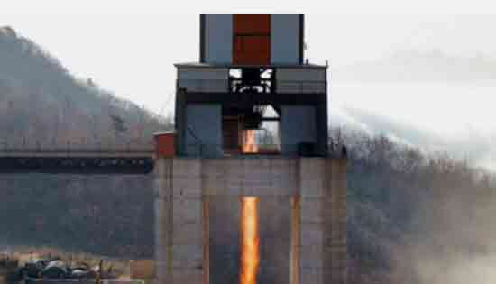 North Korea say they successfully tested new rocket engine. Image-North Korean State media.