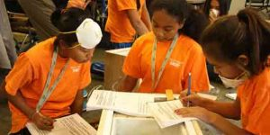 Students attending Middle School Academy hosted by ANSEP. Image-ANSEP