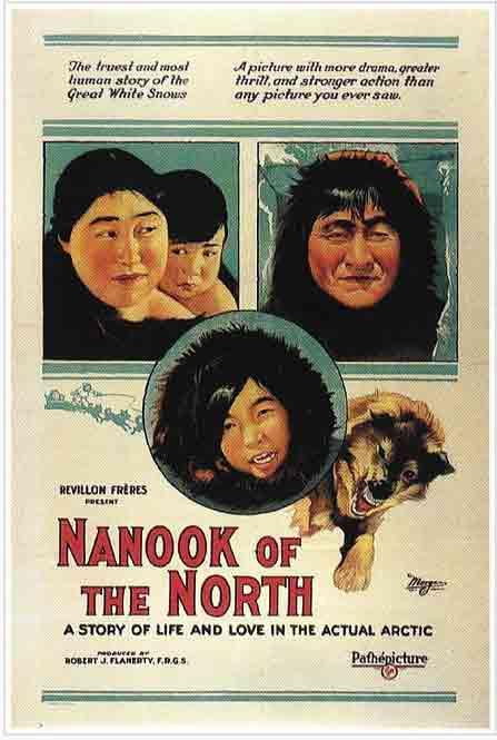 """Nanook of the North"" theatre poster. Image-Public Domain"
