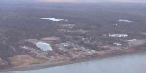 Aerial view of Tyonek. Image-Thester 11/Creative Commons.