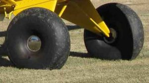 Bush tires, similar to these pictured, were stolen from a 1955 PA 20, then placed for sale online.