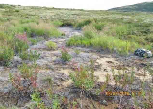 Contamination at Pebble drill site. Image-United Tribes of Bristol Bay