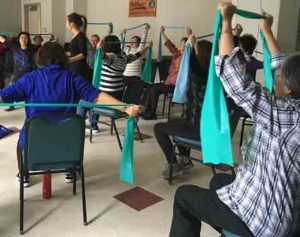 Hospital for Special Surgery conducting an exercise program at Flushing Senior Center. Image-Hospital for Special Surgery