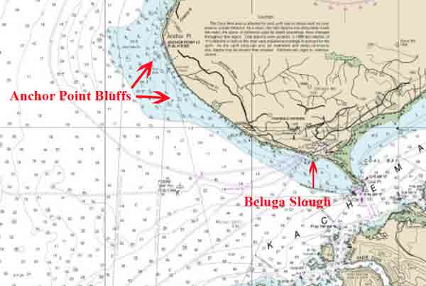 Location of Beluga Slough/Anchor Point Bluffs. Image-NOAA