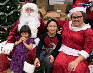 Santa and Mrs Claus made a visit to Togiak on Tuesday.