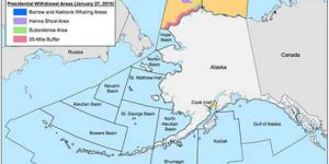 In a Tuesday proclamation, President Obama permanently withheld 98% of the Beaufort and Chukchi Seas from future oil and gas leases, the area encompasses 115 million acres. Image-BEOM