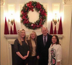 Governor Bill Walker and family at Governor's Mansion 2015 Christmas season. Image-State of Alaska