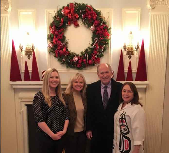 Governor Bill Walker and family at Governor's Mansion 2015 Christmas season. Image-State of Alaska